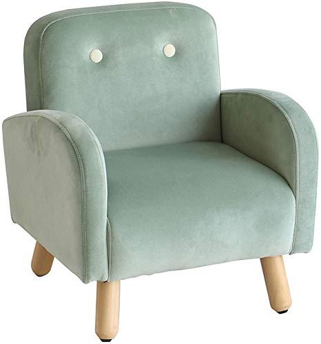 子供用ソファ キッズソファ 1人掛け グリーン 緑 おしゃれ 北欧 シンプル かわいい プレゼント お祝い ペット椅子 フランネル生地 (ピスタチオグリーン)