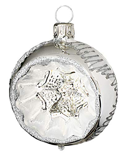 Jingle Bells Lauscha Christbaumkugel Winterzauber, Reflexkugel 6cm, 4Stck. per Box