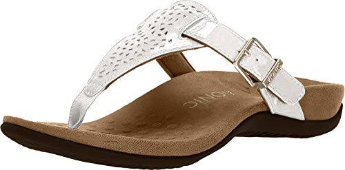Vionic Women's Sandal - Adjustable Buckle Dress Sandals with Concealed Orthotic Arch Support