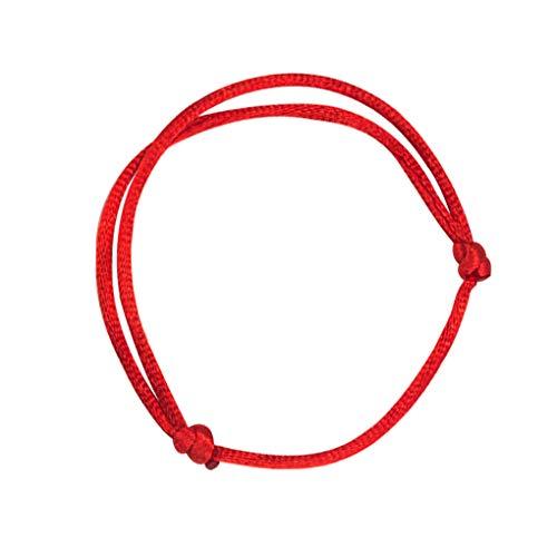 Forbestest 10pcs rote Schnur Armband Frauen Männer Adjustable Glück Armband Unisex Armbanduhr Schmuck Dekoration