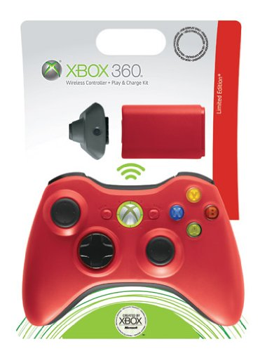 Xbox 360 - Controller Wireless Red + Play&Charge Kit