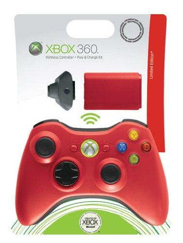 Pad Xbox 360 sans fil rouge