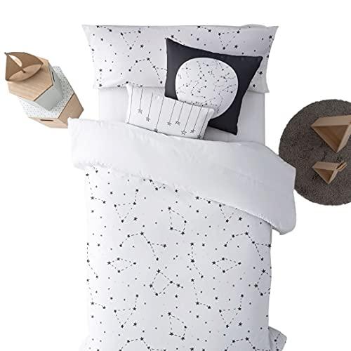 Belum | Funda nórdica con Botones 100% algodón Modelo Constelaciones | Funda Nórdica Cama | Funda Nórdica de Calidad | Funda Nórdica con Botones (Cama 105)