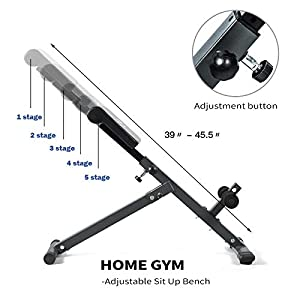 MENCIRO Ab Trainer, Home Gym Abdominal Exercise Machine for Crunch and Sit Up Training Assistant