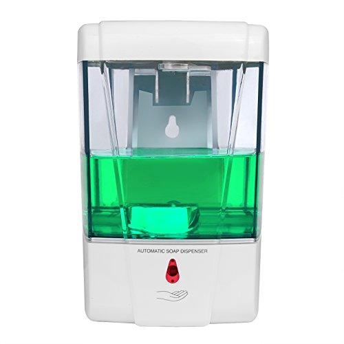 Sunsbell Automático Dispensador de jabón Montado en la Pared (700 ML) Sin Manos Sin Contacto para la Cocina Baño Comercial Público