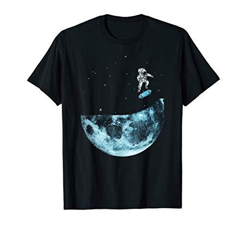 Astronaut Skateboard Miniramp im Weltall unendliche Galaxie T-Shirt