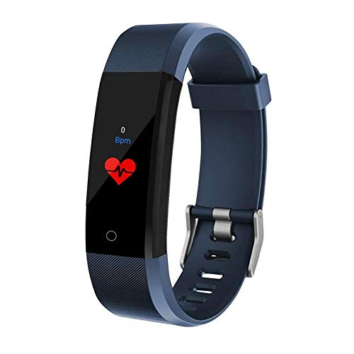globalqi Fitness Tracker 115Plus, Activity Tracker Smart Watch Armband Armband mit Herzfrequenz Blutdruck Schlafmonitor GPS Schritt Kalorienzähler Schrittzähler für Kinder Frauen Männer