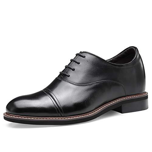 CHAMARIPA Erhöhen Kleidschuhe, 7 cm Absatzmänner Kleiden Die Schuhe Der Schwarzen Männer, Die Schuhhöhe Größer Sind H92D56D011D