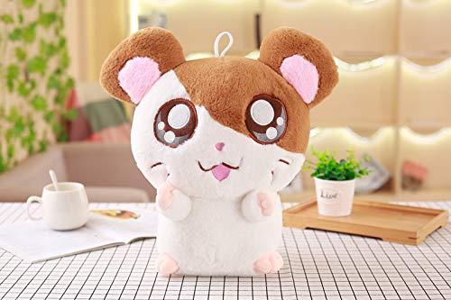 Pluche Mooie Hamster Muis Poppen Knuffel, Gevulde Zachte Dieren Cartoon Hamster Kussen, Kerstcadeau Voor Kinderen Baby 30Cm (Bruin)