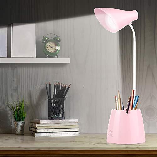 Schreibtischlampe Kinder, Molbory Leselampe Buch 24 Led Tischlampe 3 Helligkeit Bettlampe USB Wiederaufladbar Schreibtischleuchte Dimmbar Touch Schalter Tischleuchte Kinder für Lesen,Studieren,Arbeit