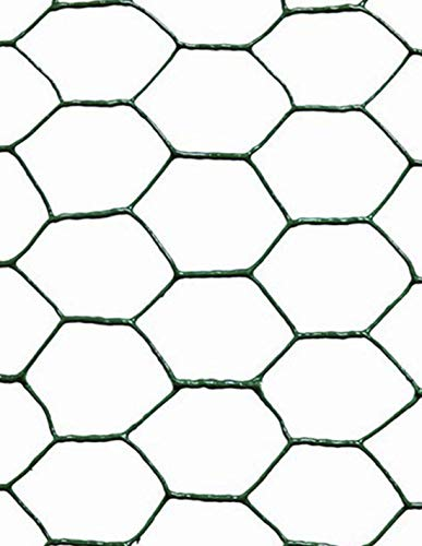 Jardin202 0'50 x 10 Metros - Malla metálica Hexagonal plastificada Verde - 25mm