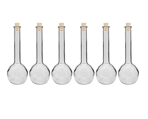 hocz Glasflaschen Set mit Press-korken | 6/10 teilig | Füllmenge 500 ml | Tulipano Korkverschluss Likörflasche Ölflasche Glasflasche Grappa (10 Stück)