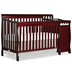 Dream On Me Brody 5 in 1 convertible crib with changer