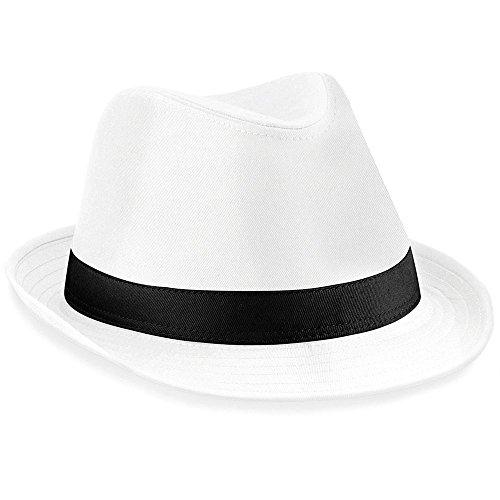 Hut Hochzeit Kopfbedeckung Damen Fedora Hüte klassisch schwarz weiß schlicht