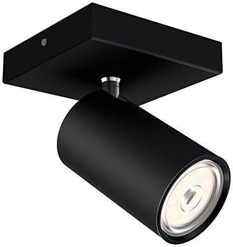 Philips Luminaires Philips Faretto Kosipo Singolo, Attacco GU10, Lampadina Non Inclusa, Nero, 13.4x10.2x9.2 cm