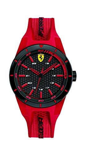 Scuderia Ferrari Herren Datum klassisch Quarz Armbanduhr mit Silikonarmband