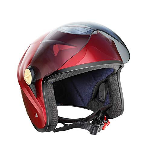 Casco Moto Cascos Bluetooth Casco Modular de Motos Casco Patinete Eléctrico,Bicicleta Urbana,Diseño Muy Ligero con ventilación Integral Carga Solar Mucha Comodidad y Máxima Seguridad