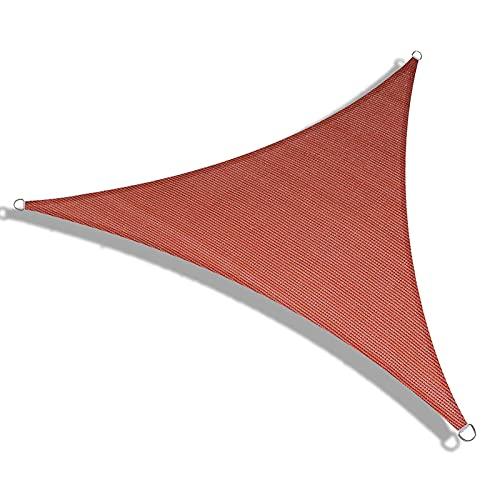 XFY Toldo Vela de Sombra Triangular 5 x 5 x 5m, Impermeable Ovela de Sombra Triangular, Vela de Sombra Protección UV para Patio, Exteriores