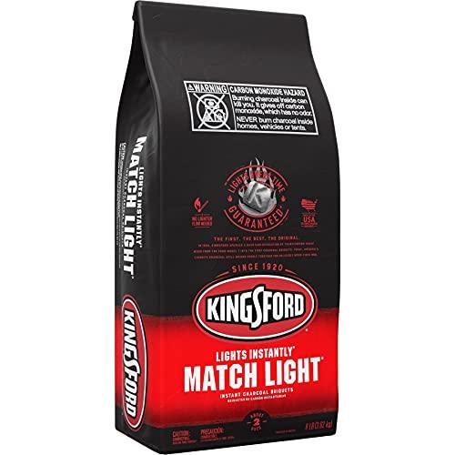 Kingsford 32111 Match Light Charcoal Briquettes, 8 lb, Black