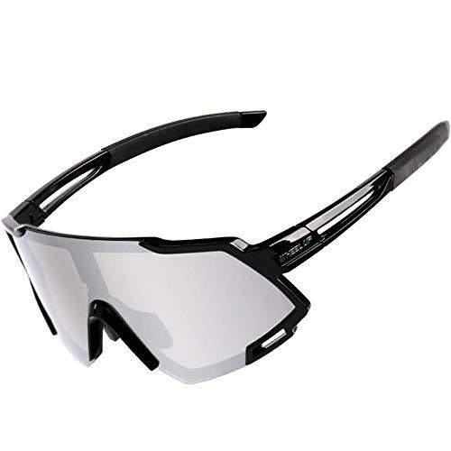 Veiligheidsbril voor wielrennen, sportieve zonnebril, gepolariseerd, voor fietsen in de open lucht, met opbergtas, voor dames en heren, hardlopen, fietsen, klimmen #06