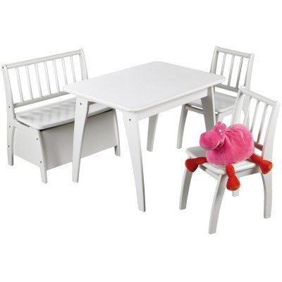 Geuther-Ensemble table et chaises Bambino blanc (4 pièces) - Blanc
