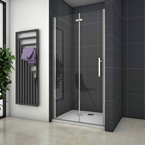 Mamparas de Ducha Puerta Plegable Cristal 6mm Antical 110x185cm