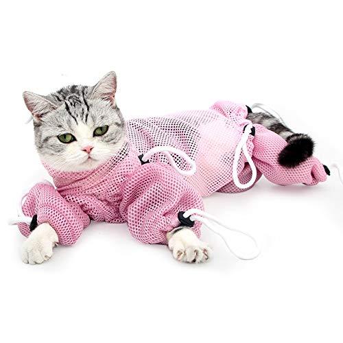 Katzen-Pflegetasche, Netz-Reißverschluss, Tasche für die Fellpflege, Baden, Injektionen, Untersuchung, Nageltrimmen (M)