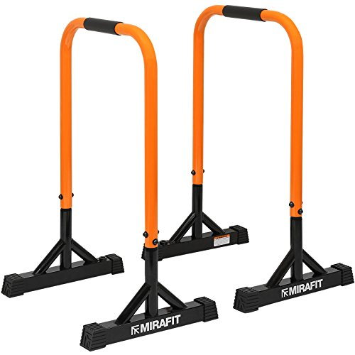 Mirafit Dip Bars Pull/Push Up Gymnastics/Calisthenics Tall Parallettes Parallel Bars