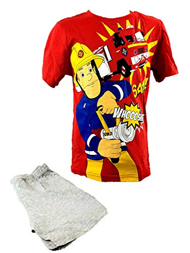 Feuerwehrmann Sam Fireman Sam Pyjama Schlafanzug kurz Größe 116