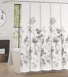 """cheap Tahari Home Giacomo Flower Shower Curtain Blue  Gray 72 """"X 72"""""""