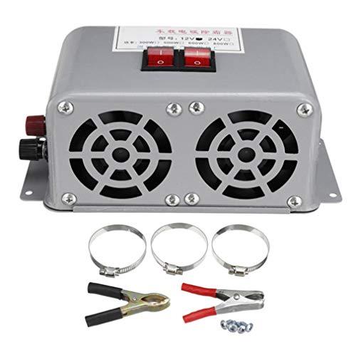 HehiFRlark - Calefactor de coche, 12 V/24 V, ventilador de calefacción para coche, invierno