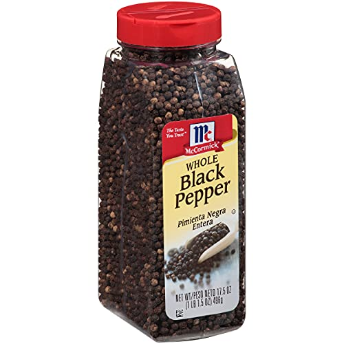 McCormick Whole Black Pepper, 17.5 oz