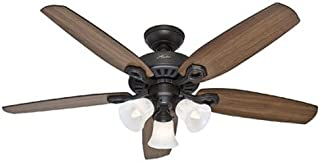 Hunter Indoor Ceiling Fan, with pull chain control - Builder Plus 52 inch, New Bronze, 53238