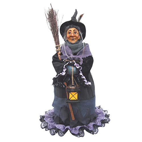 Hexen von Pendle-Hazel stehend Hexe (lila) 50cm