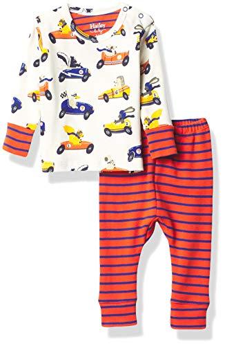 Hatley Organic Cotton Pyjama Sets Juego de Pijama, Animales de Carreras, 3-6 Meses para Bebés