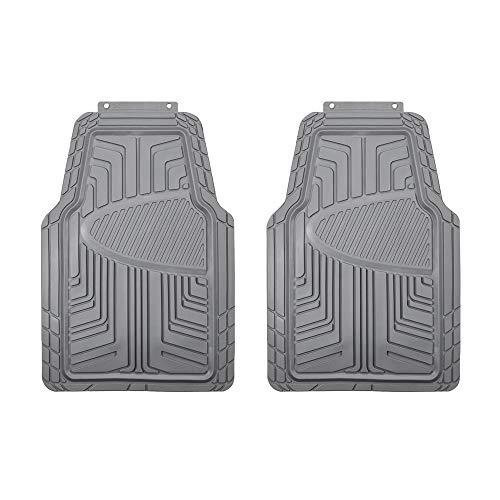 Amazon Basics - Set da 2 tappetini in gomma per auto, SUV, camion, per tutte le stagioni, grigio