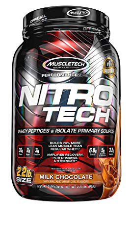 Muscletech Supplemento Nutrizionale Nitro Tech Performance Series 2 lb, Chocolate - 998 g