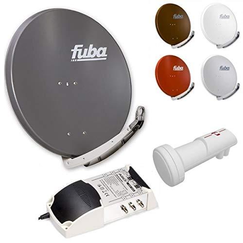 6-Teilnehmer-Digital-Sat-Anlage | Fuba DAA 850 Sat-Schüssel + Inverto Red Extend Quattro LNB + AMS 506 5/6 Multischalter
