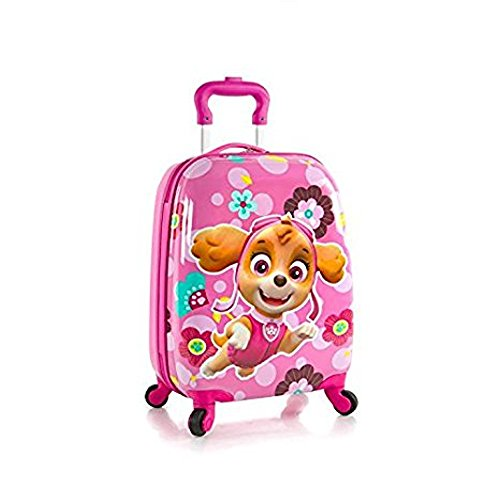 Nickelodeon PAW Patrol Hard-side Spinner Luggage for Kids - 18 Inch [Pink]