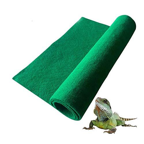 BLSMU Reptile Carpet,Terrarium Liner,Lizard Cage Liner,Tortoises Heat Mat,Chameleon Bedding,Iguana Substrate,Reptile Mat for Bearded Dragon,Turtles,Snake (39.4' x 19.7')