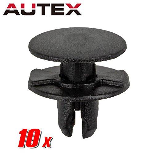 AUTEX 10pcs Fender Liner Fastener Rivet Push Clips Retainer Nut Replacement for Under Cover Rear Fender Cover, Control Unit Retainer