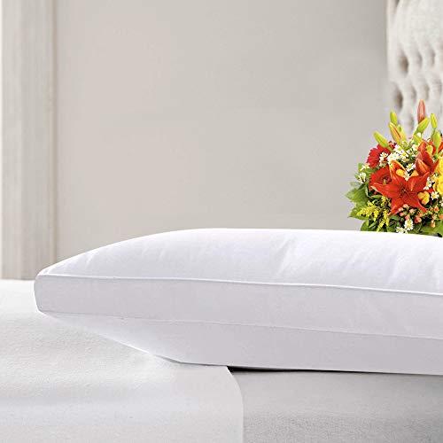 Kensingtons Maulbeerseide gefüllte Kissen, hypoallergen, 400 TC, ägyptische Baumwolle, Hotelqualität, Standard-Kissen 48 cm x 74 cm, Maulbeerseide, weiß, Single Pillow
