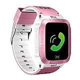 MIFXIN Kids Smart Watch Multifunctional Touchscreen Wristband with Phone Call Camera SOS Flashlight Children Digital Sport Smart Watch Phone for Boys Girls Kids Gift (White+Pink)