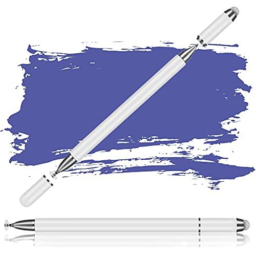 Penna per Tablet,3 in 1 Penna Touch,Pennino Touch Screen Universale ad Alta Sensibilità,Penna Gel per iPad Tablet con Punte a Disco e Punte in Fibra Stilo,Stylus Penna Capacitiva per iOS Android