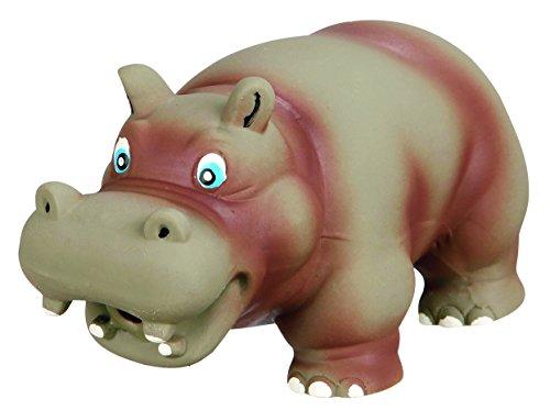 Trixie Latex Hippo Hundespielzeug mit original Tier Sound, 17cm, grau