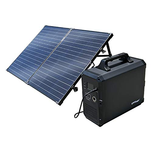 ExpertPower Alpha1800 Rechargeable Solar Powered Station Combo| 1800Wh Portable Generator and One FREE 100Watt Glass Monocrystalline Solar panel
