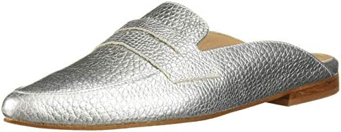 KAANAS Women s ALBAROSSA Pointy Mule Flat Fashion Slide Shoe Silver 8 Regular US product image