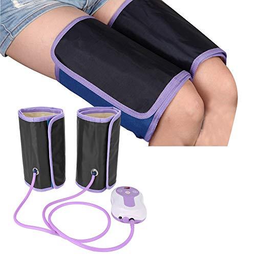 Beine Massagegerät, Fußmassagegerät mit 9 Massagemodi für Waden, Füße und Oberschenkel, Schwellungen und müde Beine(Lila)