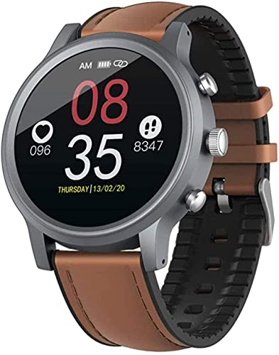wyingj Reloj inteligente de gama alta de seguimiento de actividad Monitores de actividad impermeable IP68 Fitness Watch podómetro cronómetro reloj deportivo para hombres y mujeres marrón