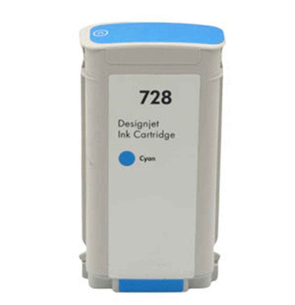 Apto para cartucho de tinta Hp728 tinta para plotter Hp Designjet T830 T730 F9j68a negro 300 ml color 130 ml, color cyan size: Amazon.es: Oficina y papelería